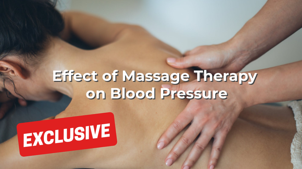 Effect of Massage Therapy on Blood Pressure